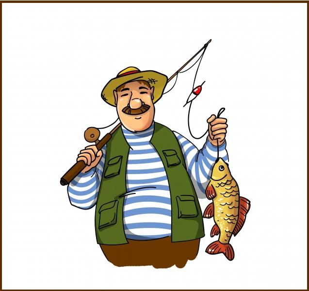 рыбак рисунок для детей